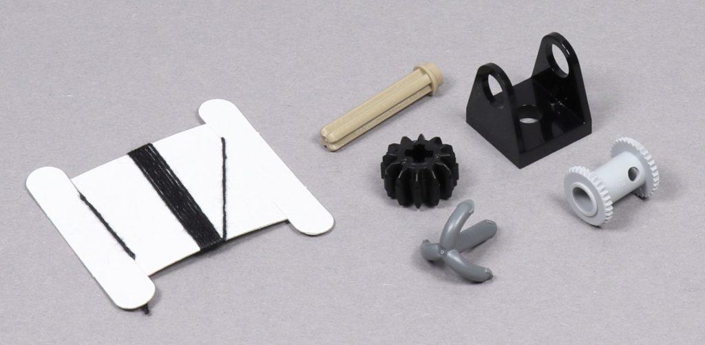 Bauabschnitt 4 - Einzelteile der Harpune | ©2019 Brickzeit