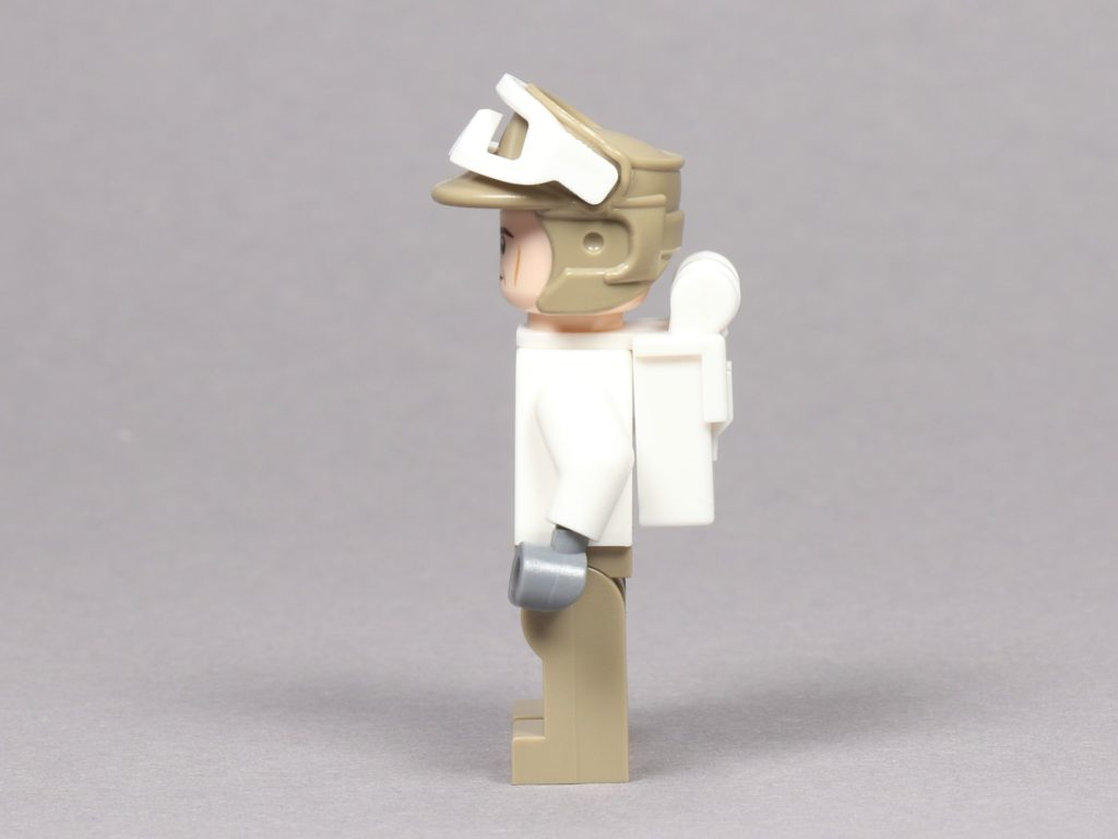 LEGO® Star Wars™ 75259 - Rebellen-Soldat im Hoth-Outfit, linke Seite | ©2019 Brickzeit