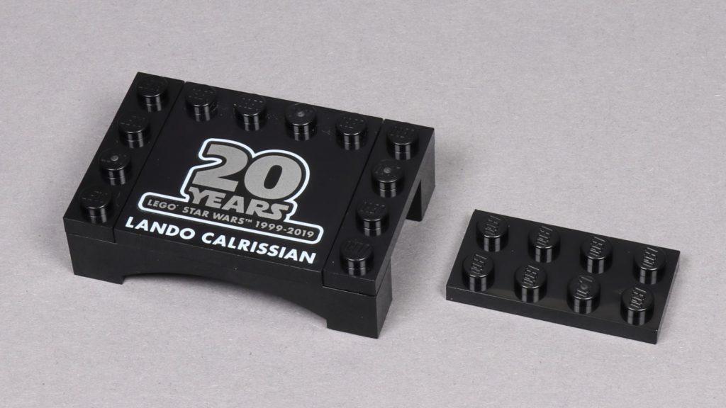 LEGO® Star Wars™ 75259 - Bauabschnitt 1, Lando Calrissians Präsentationsständer | ©2019 Brickzeit