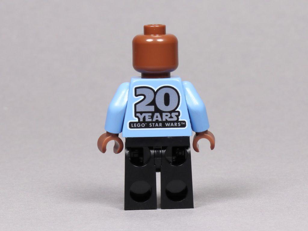LEGO® Star Wars™ 75259 - Jubiläumsminifigur, Lando Calrissian ohne Zubehör, Rückseite | ©2019 Brickzeit