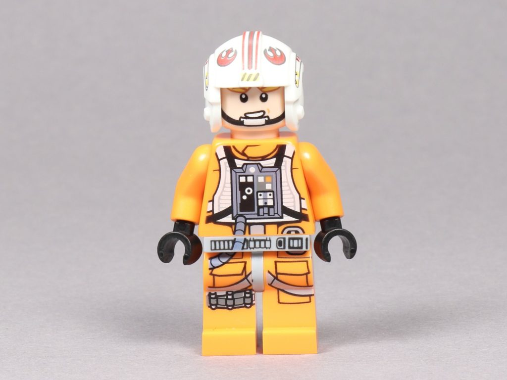 LEGO® Star Wars™ 75259 - Luke Skywalker im Piloten-Outfit, Vorderseite alternatives Gesicht | ©2019 Brickzeit