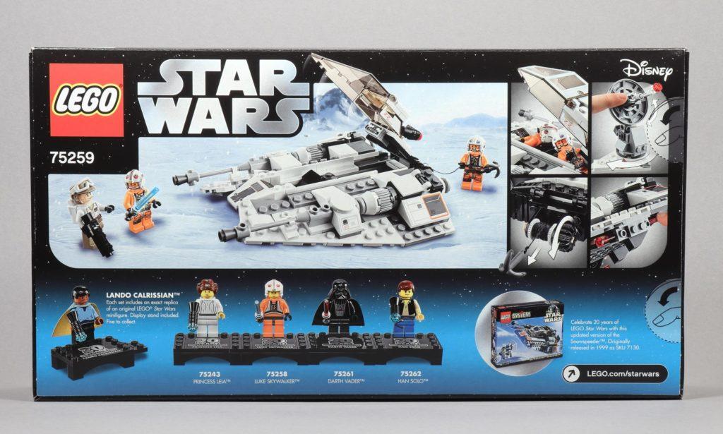 LEGO® Star Wars™ 75259 - Packung Rückseite | ©2019 Brickzeit