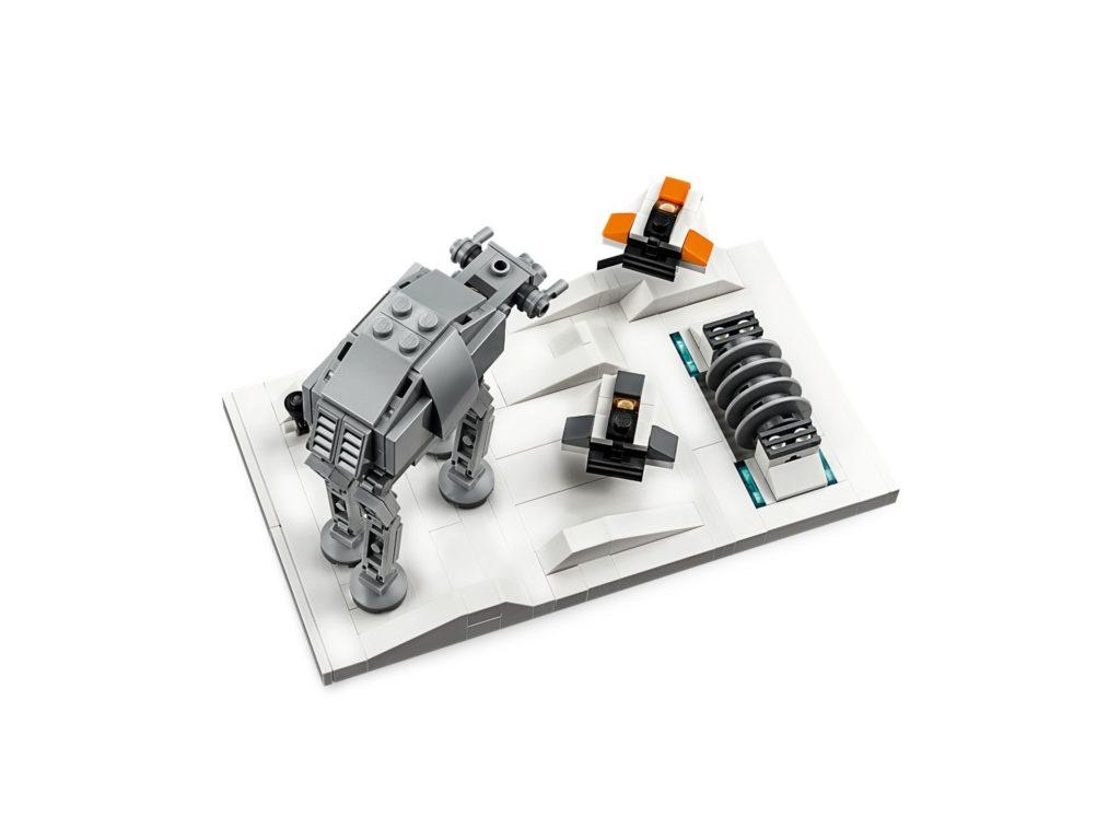 LEGO® Star Wars™ 40333 Schlacht um Hoth - 20. Jubiläums-Edition - Set Draufsicht | ©LEGO Gruppe