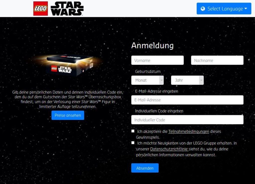 LEGO® Star Wars™ Überraschungbox Gewinnspiel | ©LEGO Gruppe und Brandmovers
