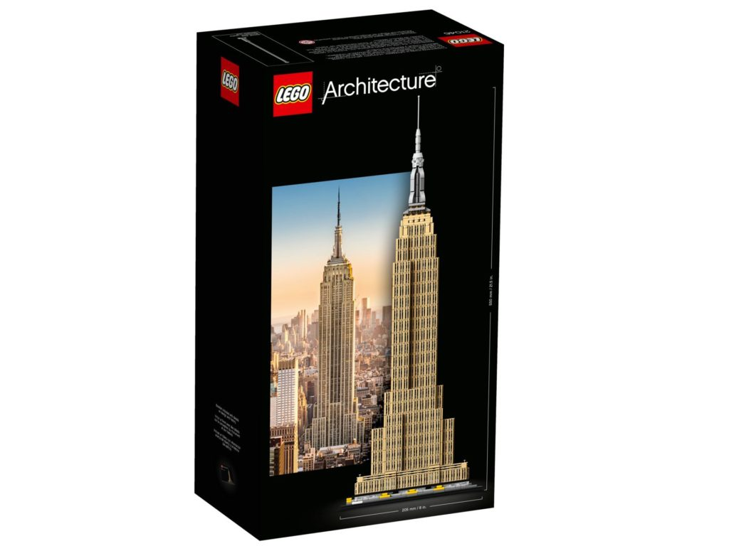 LEGO® Architecture 21046 Empire State Building - Packung Rückseite | ©LEGO Gruppe