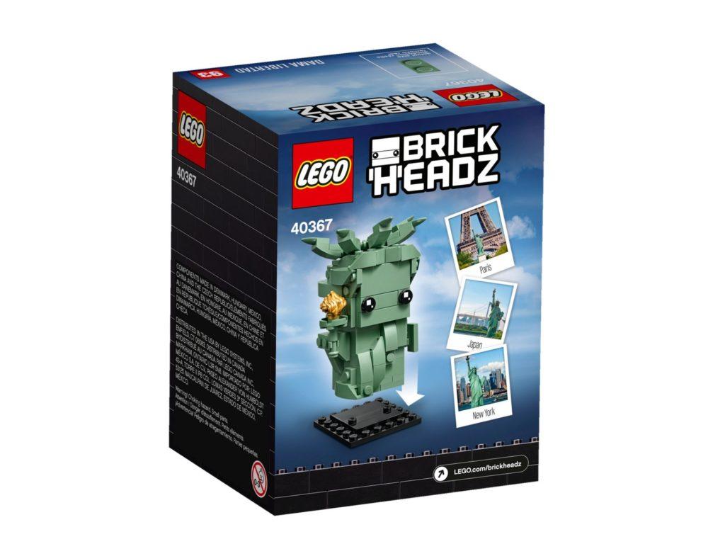 LEGO® Brickheadz 40367 Lady Liberty - Packung Rückseite | ©LEGO Gruppe