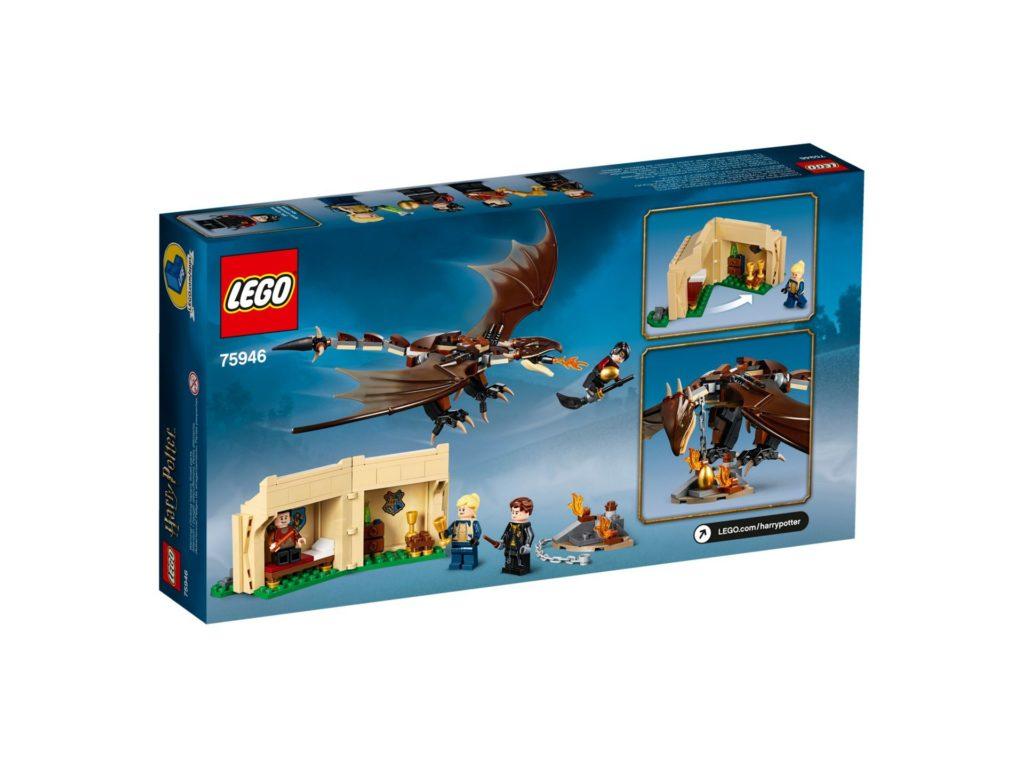 LEGO® Harry Potter™ 75946 Ungarischer Hornschwanz aus Trimagischem Turnier - Packung, Rückseite | ©LEGO Gruppe
