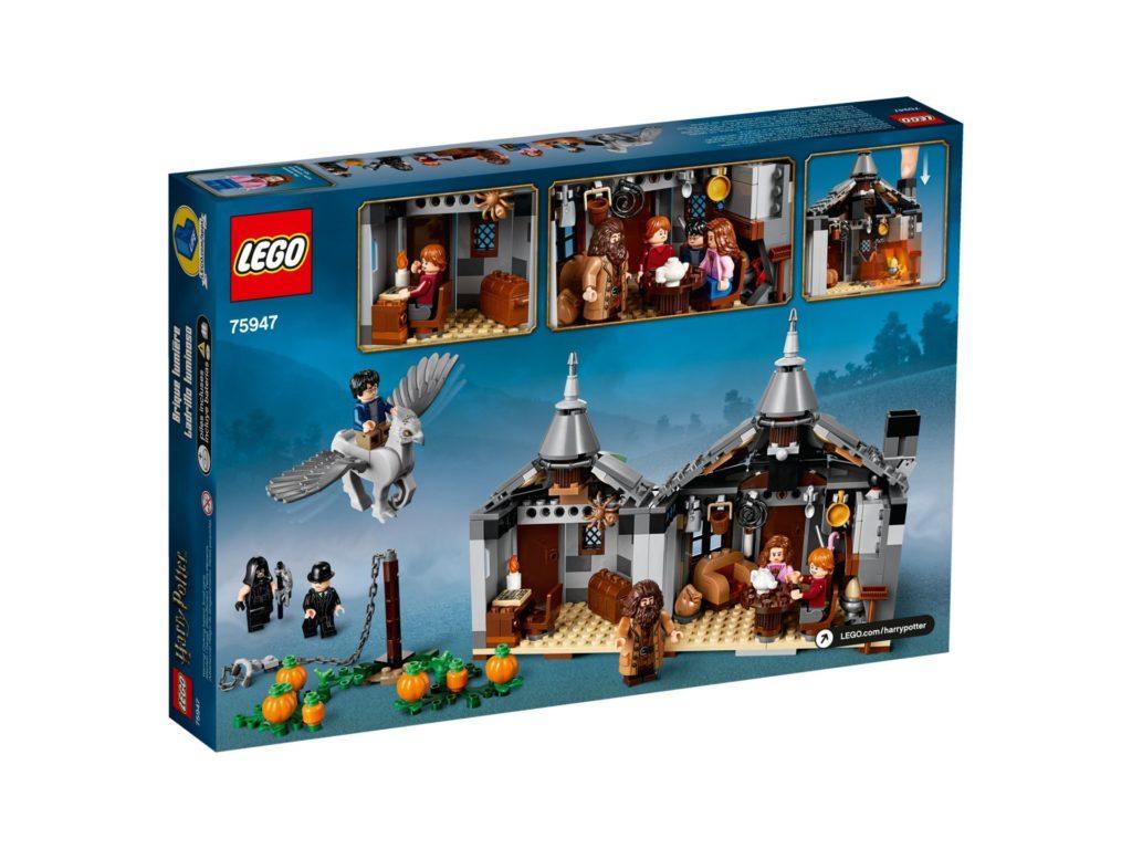 LEGO® Harry Potter™ 75947 Hagrids Hütte - Packung, Rückseite | ©LEGO Gruppe