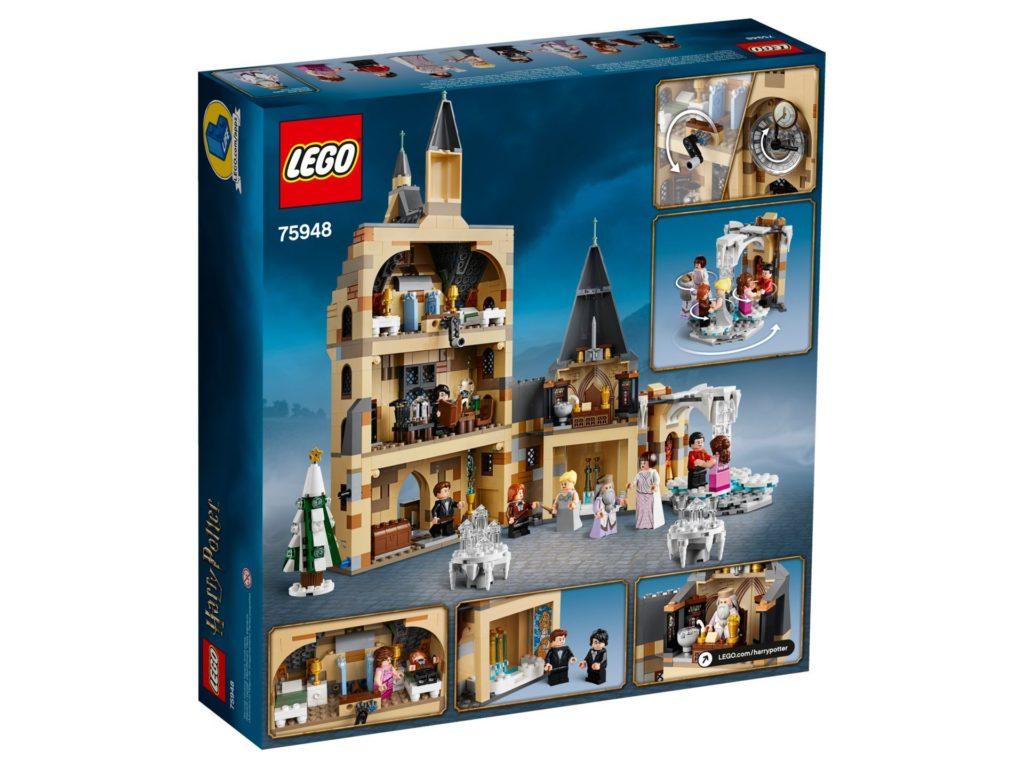 LEGO® Harry Potter™ 75948 Hogwarts Glockenturm - Packung, Rückseite | ©LEGO Gruppe