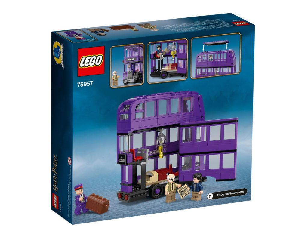 LEGO® Harry Potter™ 75957 The Knights Bus - Packung, Rückseite | ©LEGO Gruppe