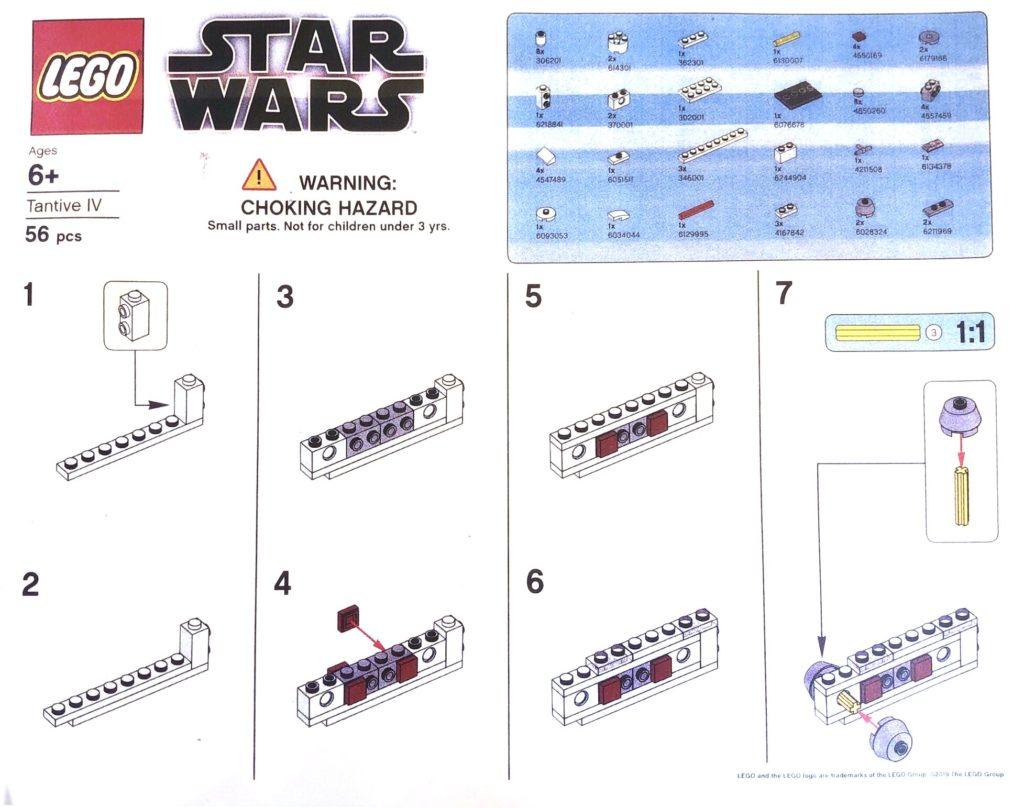 LEGO Star Wars Mini Tantive IV - Bauanleitung, Seite 1