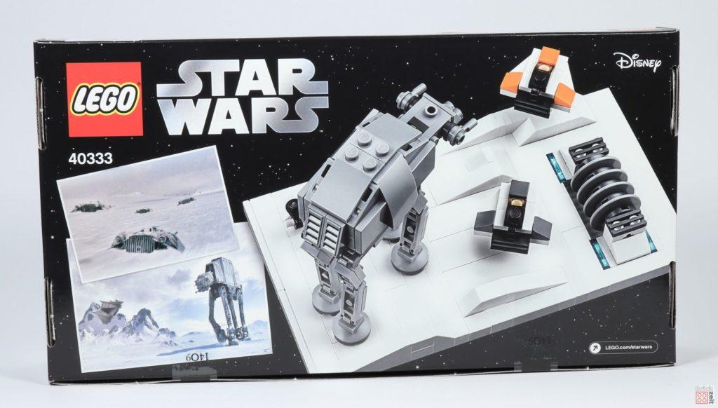 LEGO® Star Wars™ 40333 Schlacht um Hoth - Packung, Rückseite | ©2019 Brickzeit