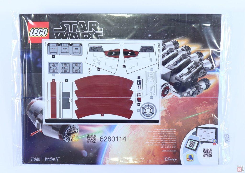 LEGO® Star Wars™ 75244 - Anleitung und Stickerbogen verpackt | ©2019 Brickzeit