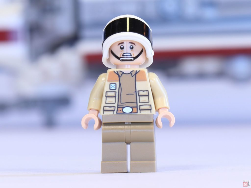 LEGO® 75244 - Captain Raymus Antilles, Vorderseite mit alternativem Gesicht | ©2019 Brickzeit