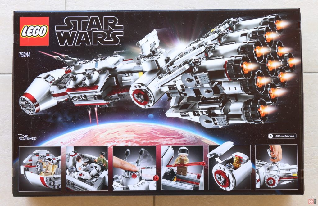 LEGO® Star Wars™ 75244 Tantive IV - Packung Rückseite | ©2019 Brickzeit