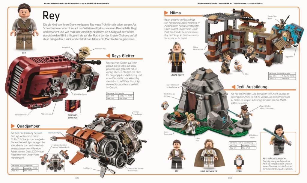 LEGO® Star Wars™ Lexikon der Figuren, Raumschiffe und Droiden Neuausgabe 2019 - Beispielseite 1 | ©DK-Verlag