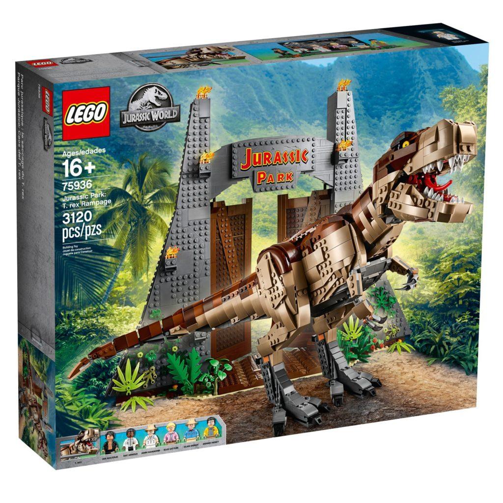 LEGO® 75936 Jurassic Park T.Rexs Verwüstung - Packung, Vorderseite | ©LEGO Gruppe