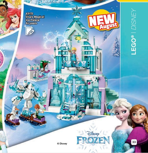 LEGO Katalog 2. Halbjahr 2019 - Disney Frozen Eispalast | ©LEGO Gruppe