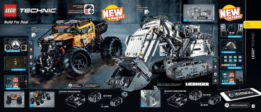 LEGO Katalog 2. Halbjahr 2019 - LEGO Technic 4x4 Off-Roader und Liebherr 9800 | ©LEGO Gruppe