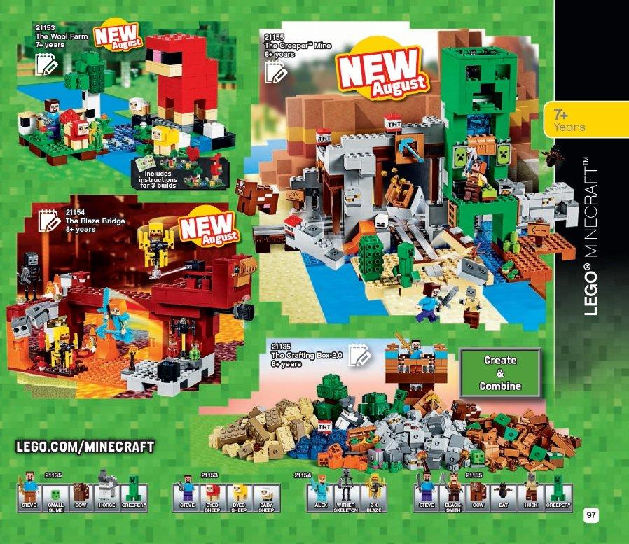 LEGO Katalog 2. Halbjahr 2019 - LEGO Minecraft | ©LEGO Gruppe