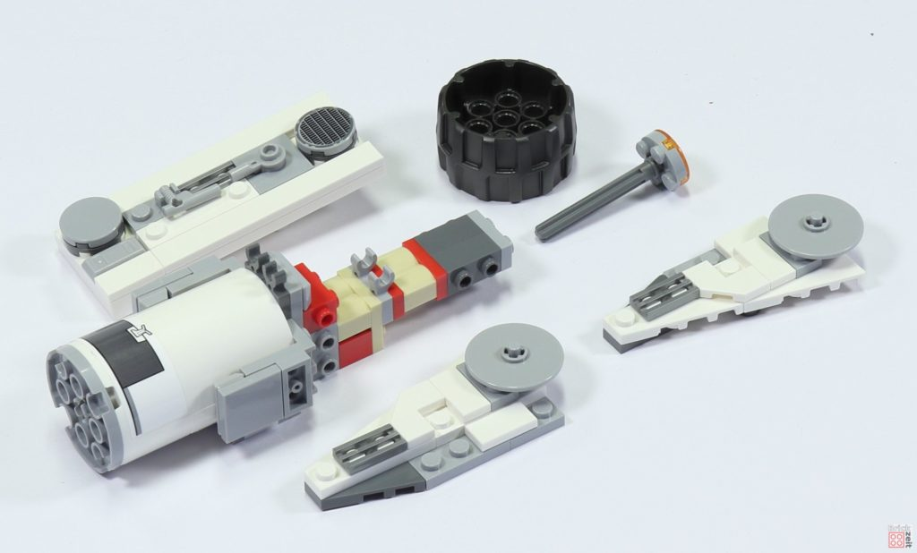 LEGO 75244 - Bauabschnitt 5, Einzelteile oberer Antrieb | ©2019 Brickzeit
