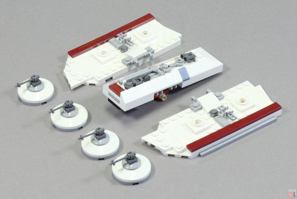 LEGO 75244 - Bauabschnitt 6, Einzelmodule für Raumschiffabdeckung in der Mitte | ©2019 Brickzeit