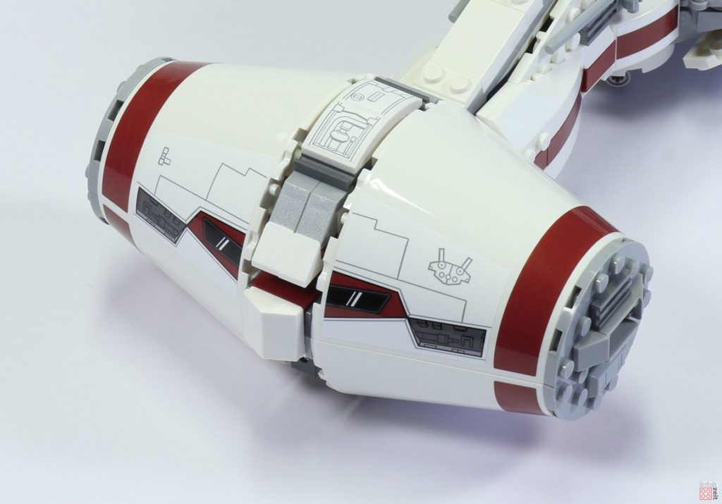 LEGO 75244 - Bauabschnitt 6, Teile für Cockpit Oberseiteseite | ©2019 Brickzeit