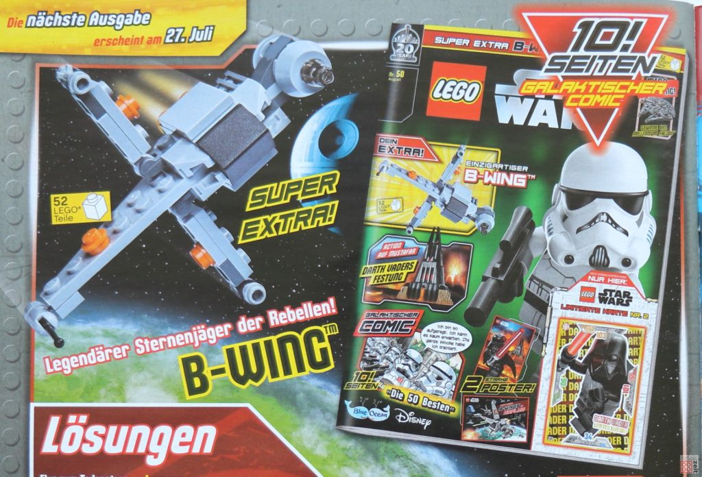 LEGO® Star Wars™ Magazin 49 - Heftvorschau August (Nr.50) | ©2019 Brickzeit