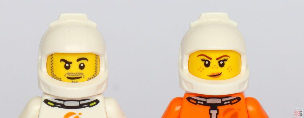 LEGO® City 40345 - Astronautenhelme ohne Visier, Vorderseite | ©2019 Brickzeit