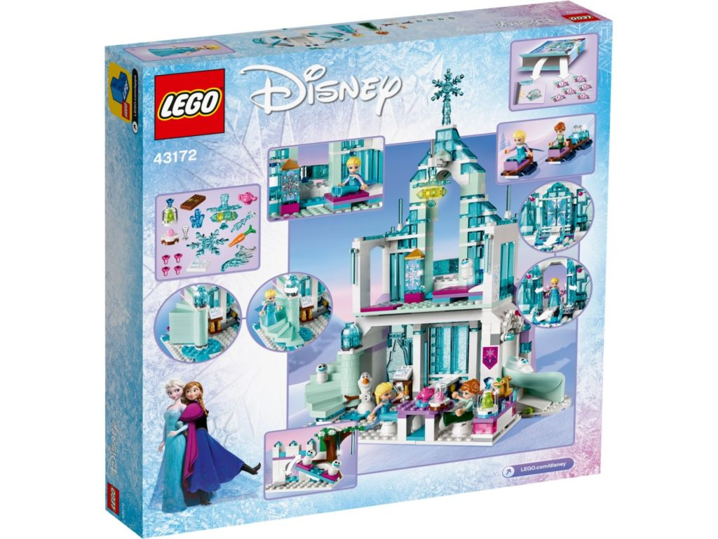 LEGO® Disney 43172 Elsas magischer Eispalast - Packung Rückseite | ©LEGO Gruppe