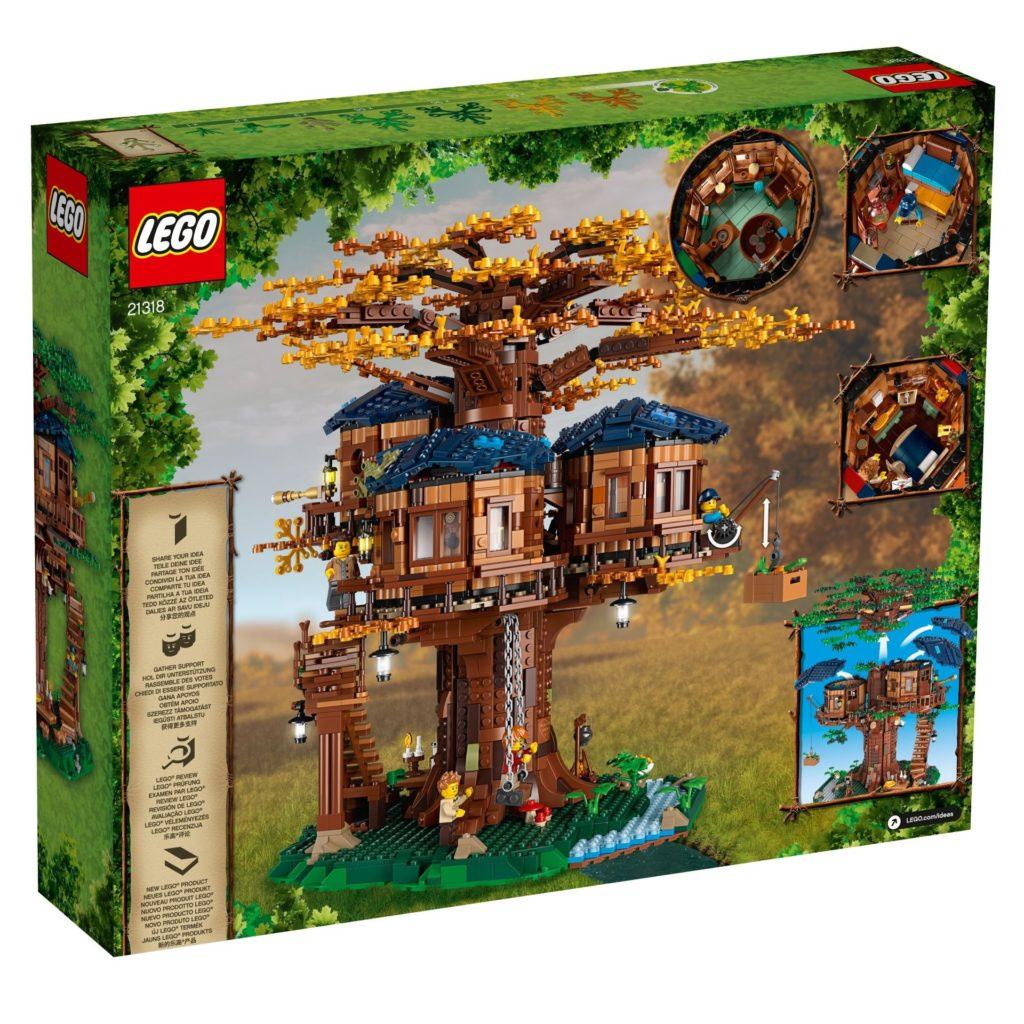 LEGO® Ideas 21318 Baumhaus - Packung Rückseite | ©LEGO Gruppe