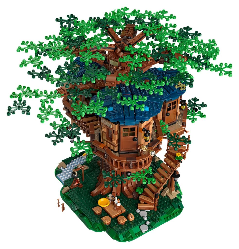 LEGO® Ideas 21318 Baumhaus - Grüne Blätter | ©LEGO Gruppe