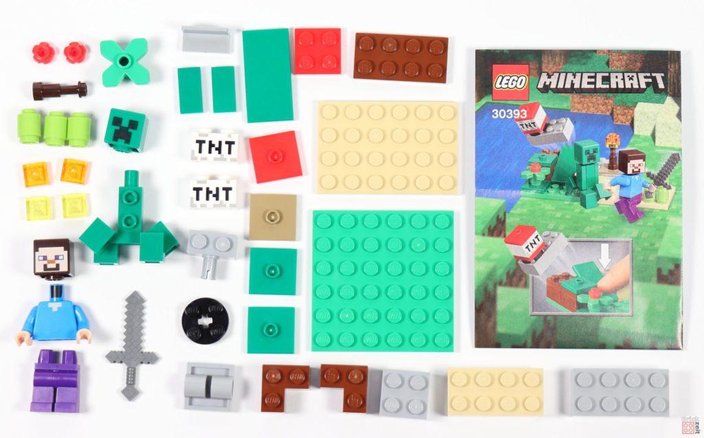 LEGO® Minecraft 30393 Steve und Creeper Polybag-Inhalt | ©2019 Brickzeit