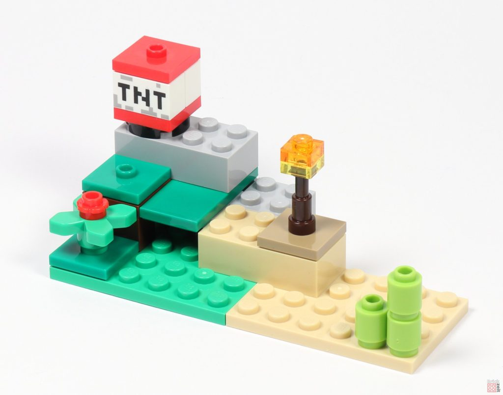 LEGO® Minecraft 30393 Steve und Creeper - Landschaft, Vorderseite | ©2019 Brickzeit