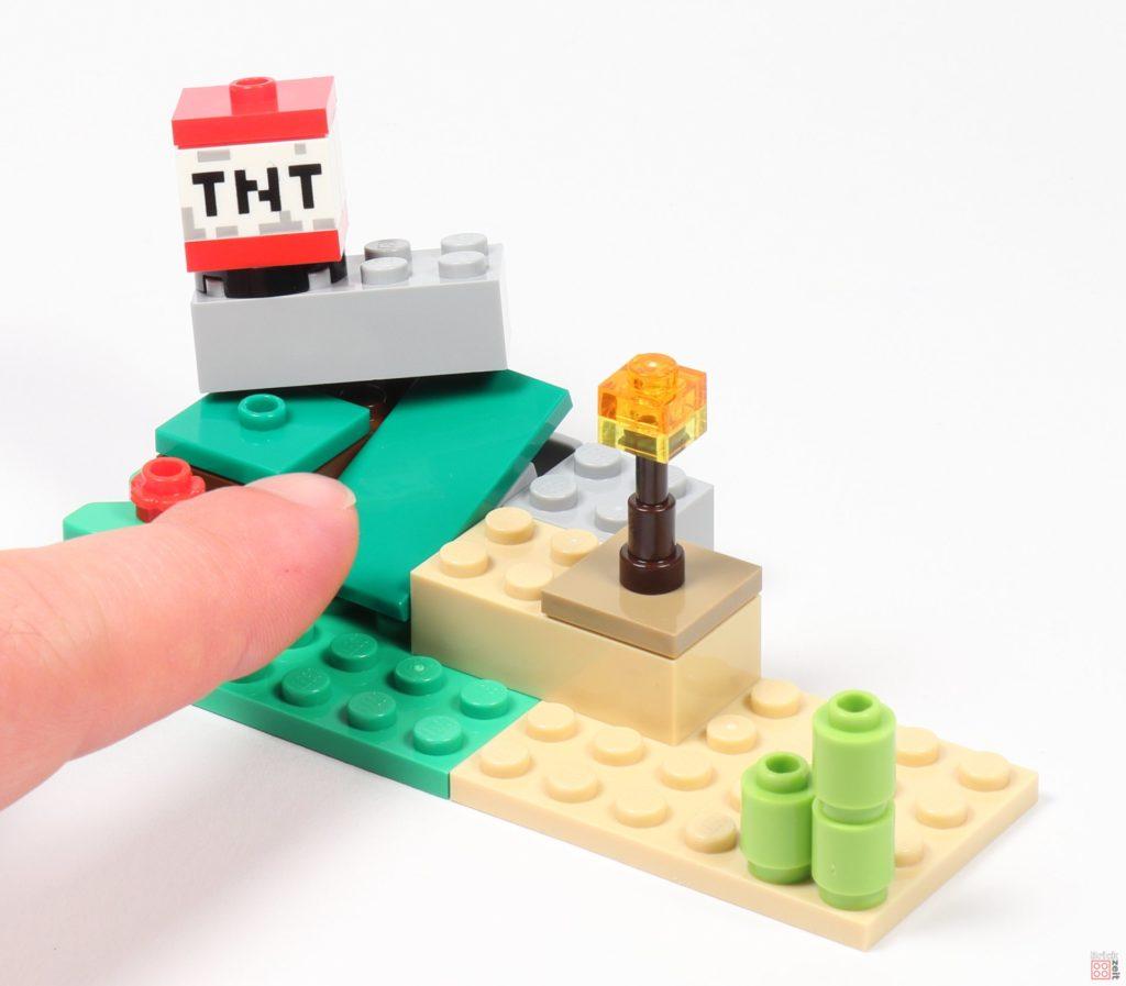 LEGO® Minecraft 30393 Steve und Creeper - TNT geht in die Luft | ©2019 Brickzeit