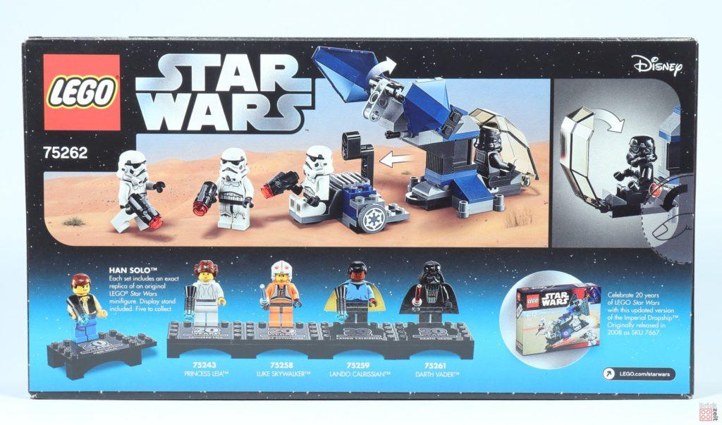 LEGO® Star Wars™ 75262 Imperial Dropship - Packung Rückeite | ©2019 Brickzeit