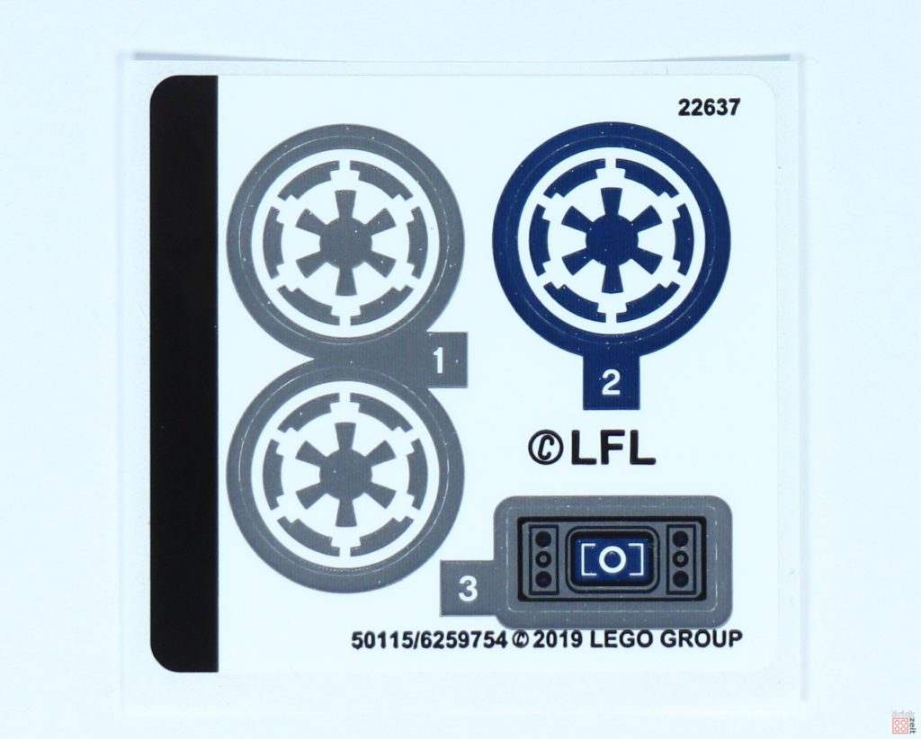 LEGO® Star Wars™ 75262 - Stickerbogen | ©2019 Brickzeit