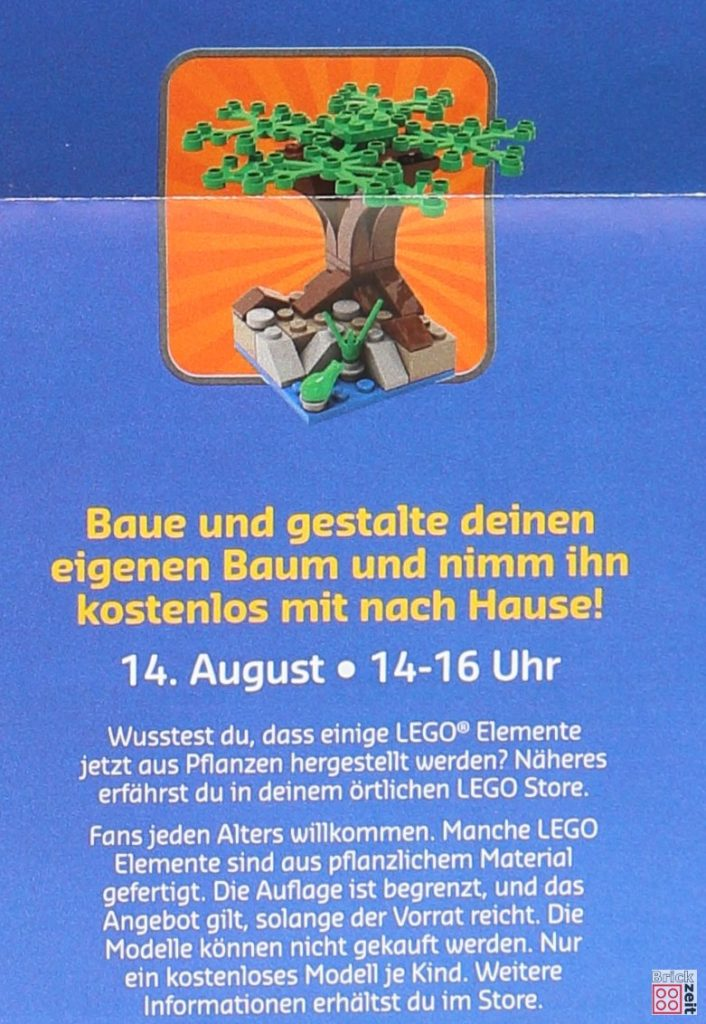 LEGO® Bauaktion Mini-Baum am 14.08.2019 Text | Foto von Brickzeit