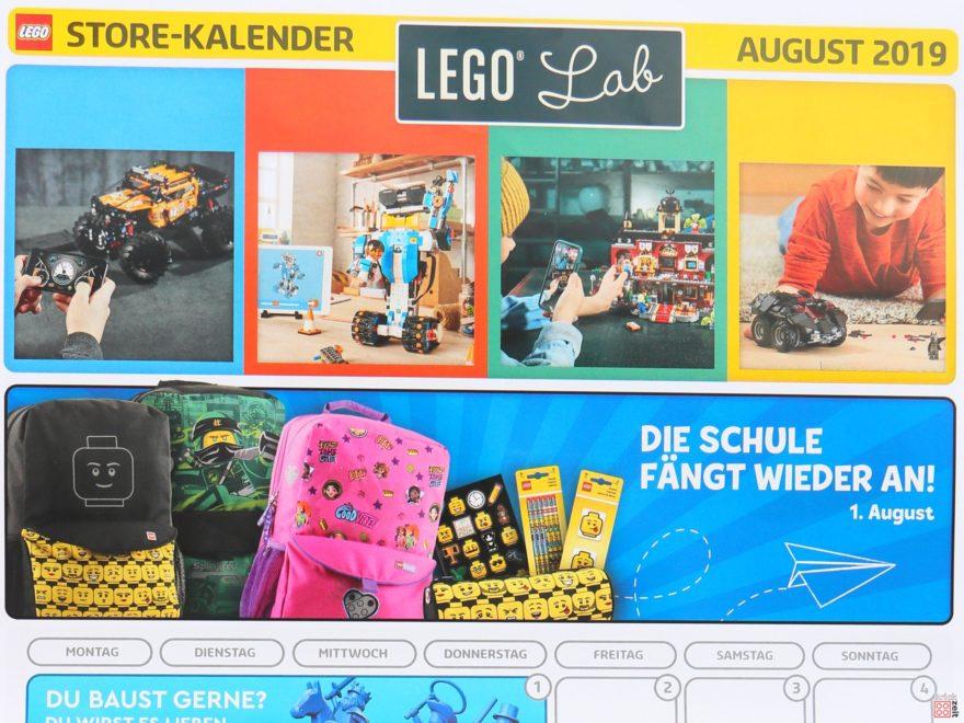 LEGO® Store-Kalender August 2019 - Titelbild | Foto Brickzeit