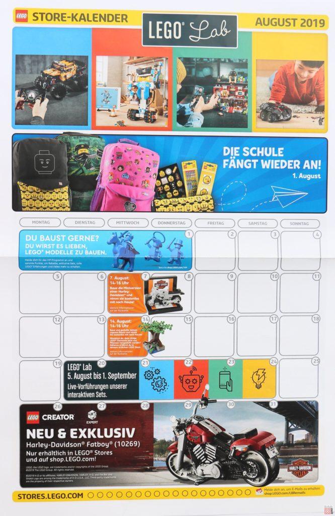 LEGO® Store-Kalender August 2019 - Vorderseite | Foto Brickzeit