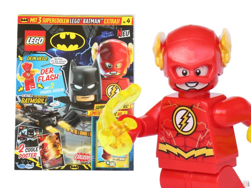 Review - LEGO® BATMAN™ Magazin Nr. 4 mit Flash - Titelbild | ©2019 Brickzeit