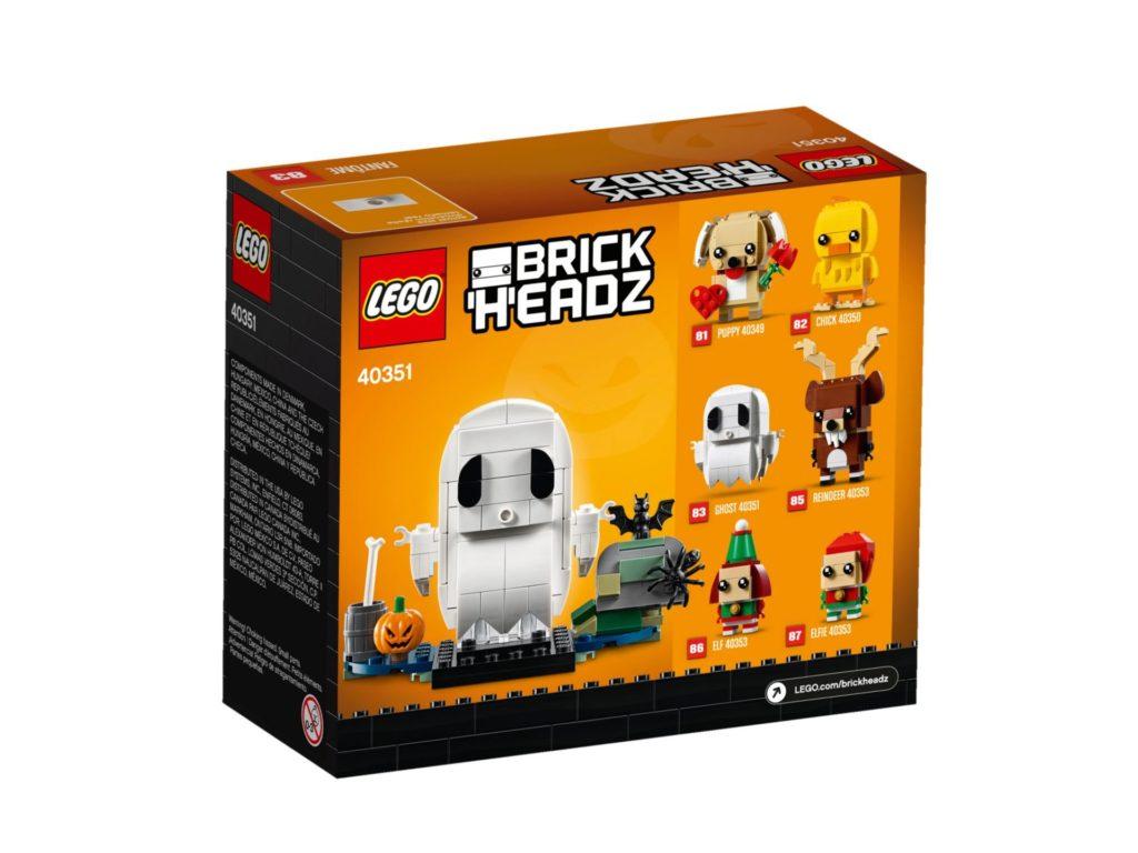 LEGO® Brickheadz 40351 Geist - Packung Rückseite | ©LEGO Gruppe