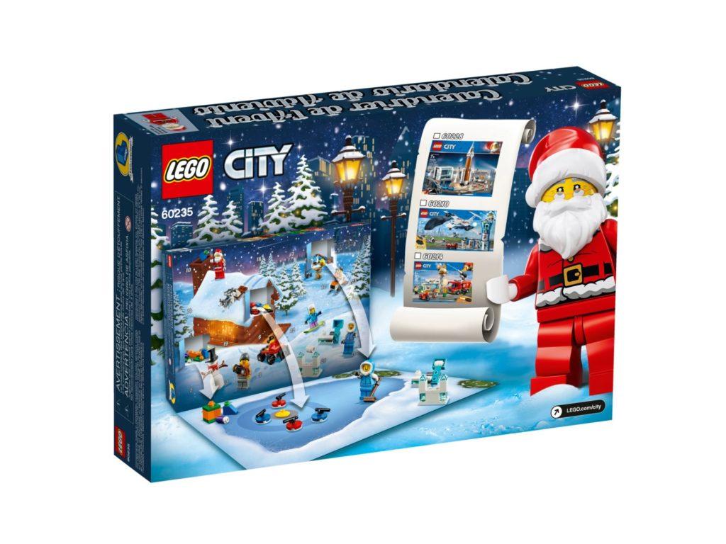 LEGO City 60235 Adventskalender 2019 - Packung Rückseite | ©LEGO Gruppe