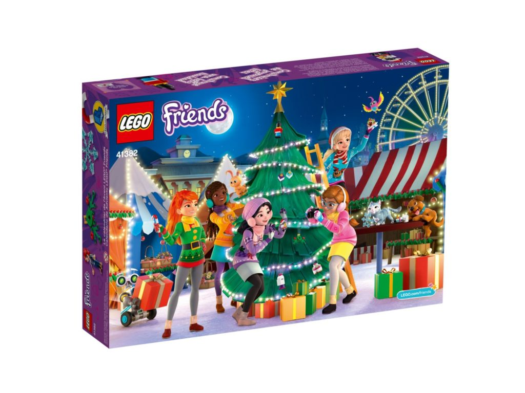 LEGO Friends 41382 Adventskalender 2019 - Packung Rückseite | ©LEGO Gruppe
