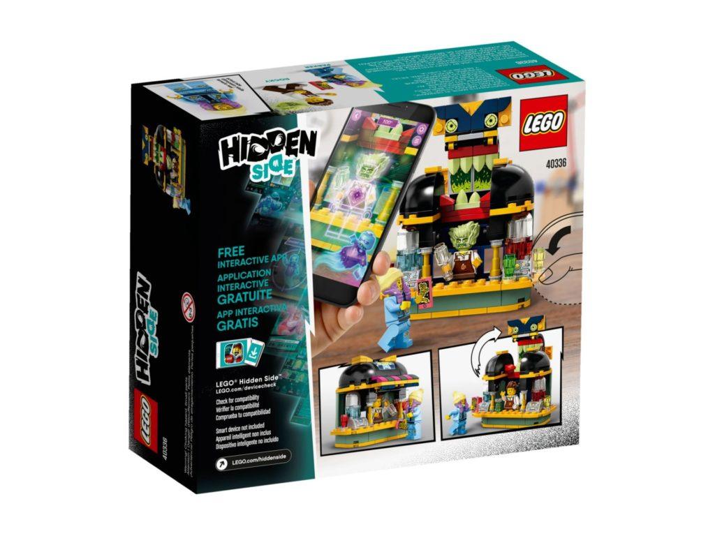 LEGO® Hidden Side 40336 Newburys Saftbar - Packung Rückseite | ©LEGO Gruppe