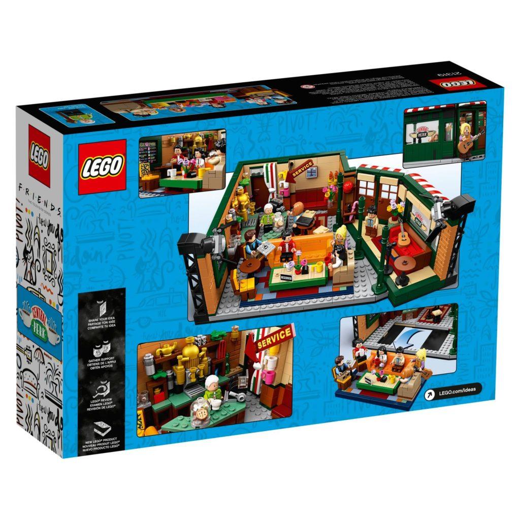 LEGO® Ideas 21319 Central Perk aus F.R.I.E.N.D.S™ - Packung, Rückseite | LEGO Gruppe
