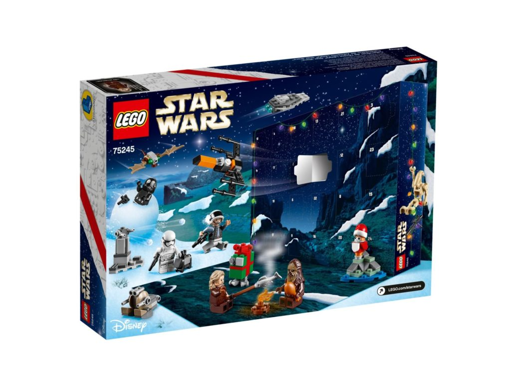 LEGO Star Wars 75245 Adventskalender 2019 - Packung Rückseite | ©LEGO Gruppe