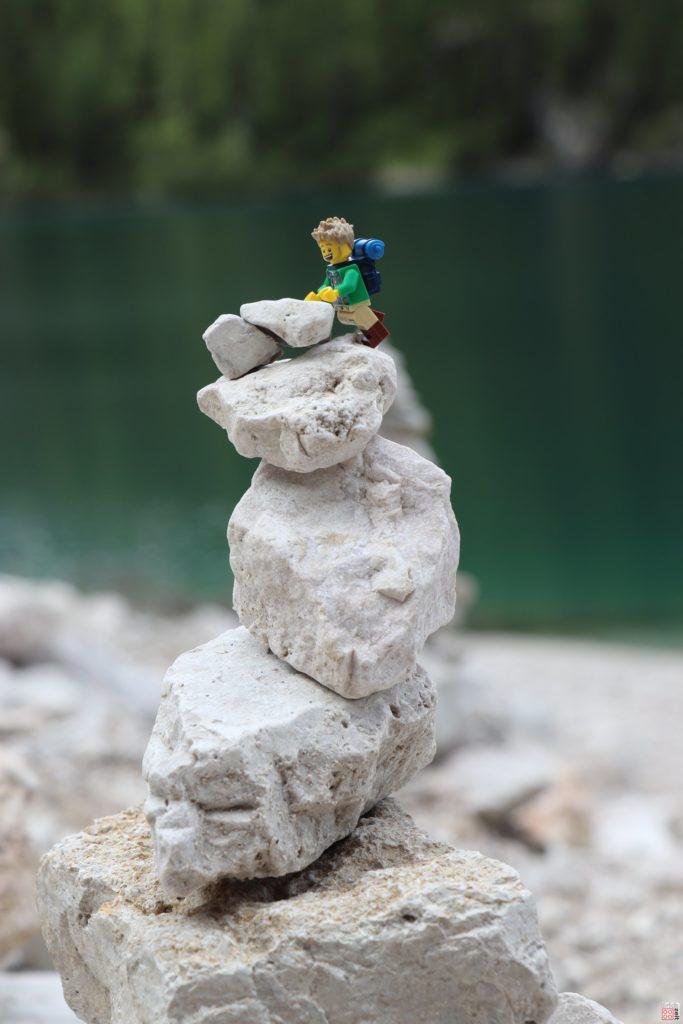 Das Stoamandl ist ganz schön hoch | ©2019 Brickzeit