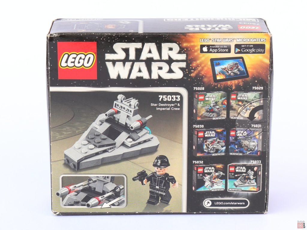 LEGO Star Wars 75033 Star Destroyer Microfighters - Packung Rückseite| ©2019 Brickzeit