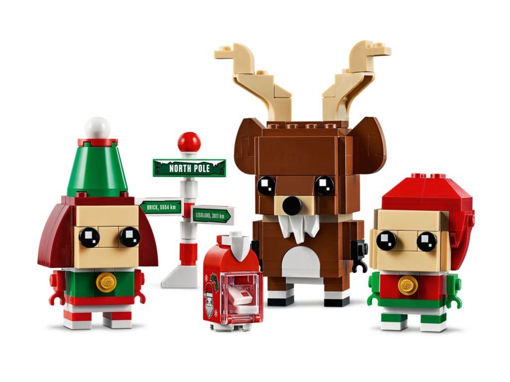 LEGO Brickheadz 40353 Rentier, Elfe und Elfin | ©LEGO Gruppe